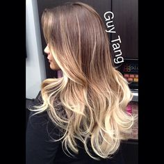 Guy Tang Hair Artist - High contrast ombre #ombre #ombrehair #californianas