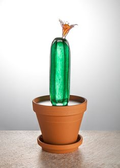 CACTUS LIGHT Handcutted czech glass light