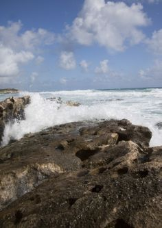 Ocean surf in Cozumel. #mexico #cruise