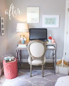 Home office makeover & back to school organization from AmysPartyIdeas.com   Swoozie's Back to School Agendas   #katespadeny #agendas #planners #bando #2015backtoschool #backtoschool   Get organized with fun day planners & agendas