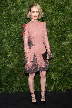 Actress Sarah Paulson attends the Museum of Modern Art's 8th Annual Film Benefit Honoring Cate Blanchett at the Museum of Modern Art on November 17, 2015 in New York City.