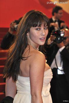 Mylène Jampanoï au Festival de Cannes 2012, dans la soirée du vendredi 18 mai.