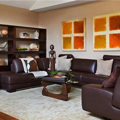 Contemporary (Modern, Retro) Living & Family Room by Frances Herrera