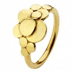 Pernille Corydon, Multi Coin Ring, Justerbar, Forgyldt