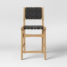 Ceylon Woven Counter Stool Black/Natural - Opalhouse™ : Target