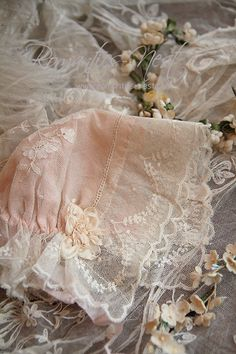 BONNET HAT EMBROIDERY ANGLAISE  LACE WHITE IVORY  SUN HAT CHRISTENING BAPTISM