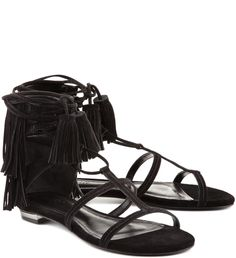 FLAT FRINGES TESSELS BLACK