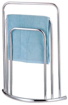 NEW CHROME FREE STANDING 3 BAR TOWEL RAIL BATHROOM RACK HOLDER FLOOR STAND