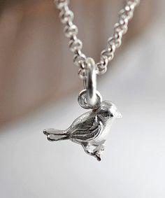 Sterling Silver Little Bird Pendant Necklace #zulily #zulilyfinds