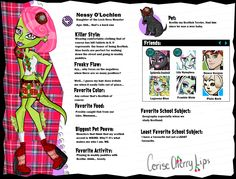 monster high bios - Google Search