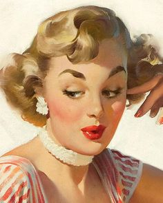 Painting by Gil Elvgren                                                                                                                                                     More