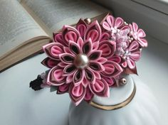 Kanzashi headband/Fabric flower hairband/Flower от AirinFlowers