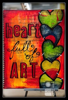 "Tracy Weinzapfel Studios: Mixed Media Monday Re-Cap 7/1/13 - ""Heart"" - NEW & IMPROVED SHOW!"