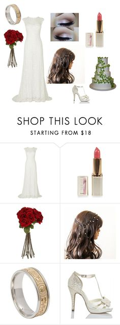 """Wedding day (As long as I can remember)"" by bloodybakemono ❤ liked on Polyvore featuring Phase Eight, L'Oréal Paris, Sia, Rick Owens Lilies and Menbur"