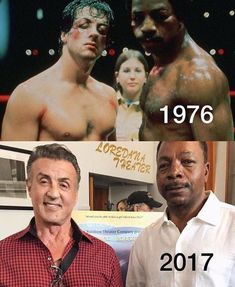 Stallone e Carl Weathers (Apollo Creed) Action Movie Stars, Action Movies, Rocky Balboa, Sylvester Stallone, Rocky Film, Rocky 3, Combat Boxe, Stallone Rocky, Apollo Creed