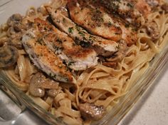Creamy Fettuccine Alfredo with Chicken and Mushrooms #BKCreamery #sponsored