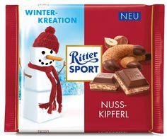 RITTER SPORT Winterkreation Nusskipferl (2015) #schokolade