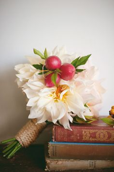 Implementing a radish (or three?) into your bridesmaid bouquet: amazing. That pop of color is oustanding.