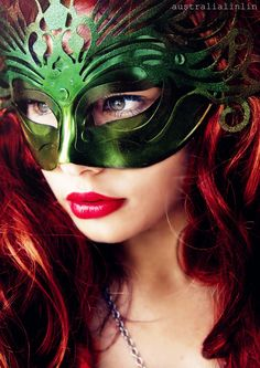 Red Hair, Green Mask