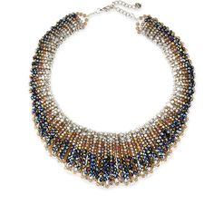 Nakamol Czech Crystal Statement Necklace (770 DKK) ❤ liked on Polyvore featuring jewelry, necklaces, multicolor necklace, tri color necklace, crystal bib statement necklace, multi colored crystal necklace and crystal stone necklace
