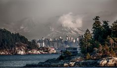 Rare view of Vancouver, BC with Mt Baker in the background. by Vladimir Kostka Beautiful World, Beautiful Places, Great Shots, British Columbia, Vancouver, New York Skyline, Around The Worlds, Canada, Island