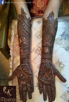 Gorgeous bridal mehndi or henna designs. Ram kumar Mehendi Art Info & Review | Wedding Mehendi Artist in Delhi NCR | Wedmegood