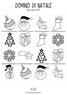 Christmas Domino Free printables - Stampabili gratis Giochi di Natale
