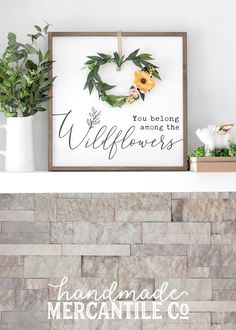 Beautiful hand-crafted signs made by the Handmade Mercantile Co. The neutral colors and classic designs make it the perfect addiction to any style home, from boho to Farmhouse.