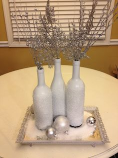 Upcycled Glass On Pinterest Painted Wine Bottles Spray