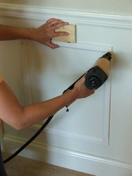 DIY Wainscoating tutorial - steps 6-9 are particularly helpful - do this onto the front of As bedroom doors