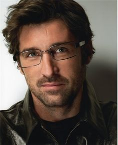 Patrick Dempsey in Versace--ohh man...why is it that guys get even more good looking with glasses on???