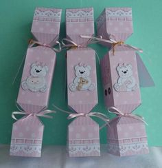 Card Gallery - 3D New Baby Girl Cracker Gift Favour Boxes