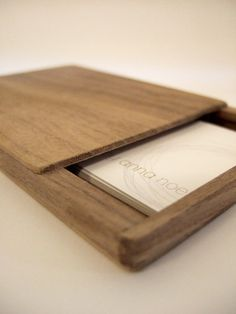 Wooden  business card holder by Your Nest Inspired *Also slick if I woman has one too