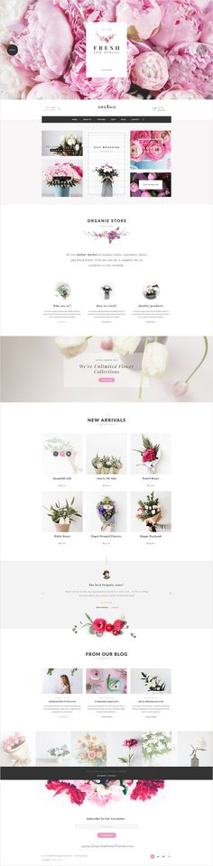 Organie is a delightful 7 in 1 #PSD template for multipurpose #flower shop eCommerce website Download now➩ themeforest.net/...
