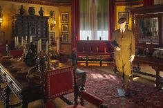 Downton Abbey costumes at Biltmore, 2-28-15, Robert, belted suit