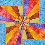 Electric Fan Paperpiece Quilt Block - via @Craftsy