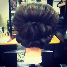 Super easy up do with extra volume