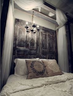 8 Beautiful Headboards Made From Old Doors