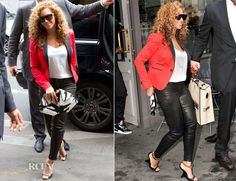 Beyonce Knowles In Dsquared² & Alexander McQueen - Caviar Kaspia