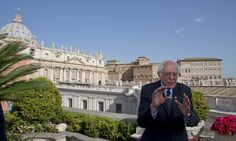 Pontiff and US presidential hopeful discussed need for morality and justice in world economy, Sanders tells reporters