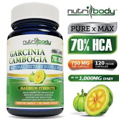 Want to lose weight fast without changing your diet? Try nutribody Garcinia Cambogia with 70% HCA. Pure and Best Quality! Special Sale on Amazon NOW! Limited Time Offer!