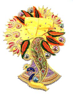 Mayur Nritya Gopal Zari Poshak is a uniquely designed Yellow & Orange Laddu Gopal dress with a divine peacock pattern. This  Designer dress is made by Silk with perfectly finished and durable decorative Zari & Stone work.    There are different color embroidery and other types of work on the Poshak giving it a stunning appearance.    - See more at: http://www.divinekraft.com/POSHAK---DRESS/Mayur-Nritya-Gopal-Zari-Poshak-id-1780602.html#sthash.OgyRf0wn.dpuf