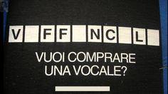 Vuoi comprare una vocale?