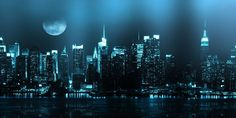 Cityscapes Moon Twitter Cover & Twitter Background | TwitrCovers
