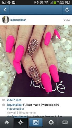 Pink and Brown Bling