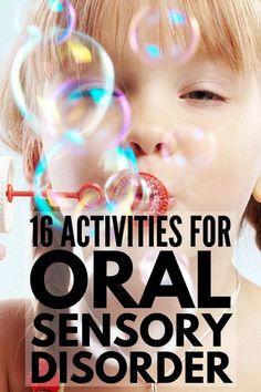 Oral Motor Activities for Kids | If your child has autism and/or sensory processing disorder & you're looking for oral sensory activities you can do at home, in the classroom & as part of speech therapy, we've got 16 fun activities for toddlers, kids in preschool & kindergarten & beyond! These activities help with a variety of challenges like picky eating and inappropriate chewing, sucking & biting. #sensoryprocessing #sensoryprocessingdisorder #autism #ASD #oralmotor #feedingtherapy