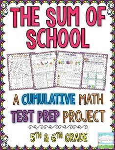 A Cumulative Math Test Prep Project for 5th & 6th Grade! Engage your students during *TEST PREP* with this 10-page math project, comprehensively covering all of the essential 5th grade Common Core Standards as well as other skills commonly taught in 5th grade. Decimals Operations and Skills,  Fraction Operations and Skills, Volume, Coordinate Graphing, Line Plot, Multi-Step Word Problems (All Operations), Elapsed Time, Geometry , Interpreting Graphs, Area & Perimeter, Factors & Multiples$