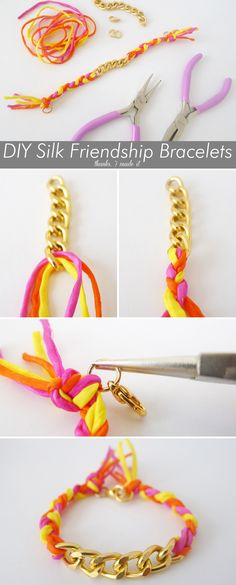 DIY Friendship Bracelet with Chain