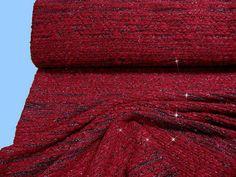 BOUCLE-STRICK   kräftig rot (508295) von STOFFLISI auf Etsy