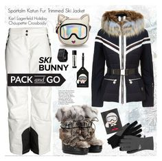 """""""Pack & Go: Ski Trip!"""" by esch103 ❤ liked on Polyvore featuring Sportalm, Jimmy Choo, Karl Lagerfeld, Garmin, The North Face and Aesop"""